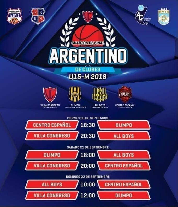 Fixture ArGentino U15