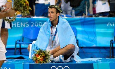 Manu Ginóbili medalla de oro