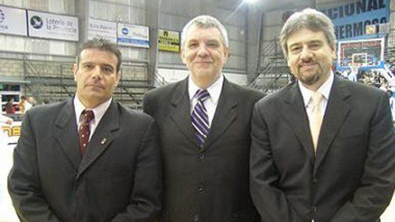 Fabían Pérez, David Carlín y Juan Carlos Meschini